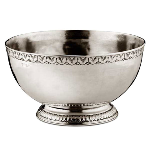 Caserta Footed Bowl - 30 cm Diameter - Handcrafted in Italy - Pewter