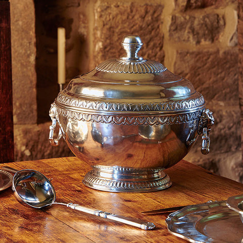 Caserta Tureen - 6.1 L - Handcrafted in Italy - Pewter