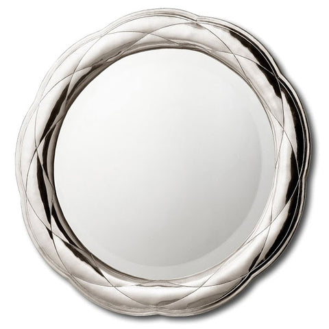 Cathedral Round Mirror - 60 cm Diameter - Handcrafted in Italy - Pewter