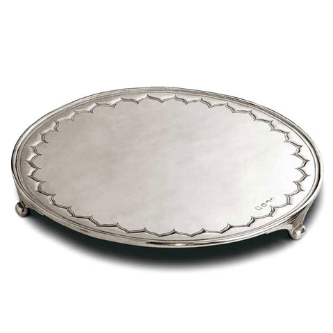 Century Cheese or Cake Stand - 32.5 cm Diameter - Handcrafted in Italy - Pewter