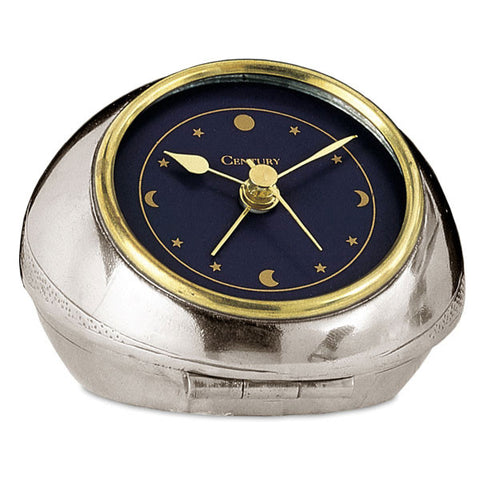 Cielo Alarm Clock - 8.5 cm Diameter - Handcrafted in Italy - Pewter