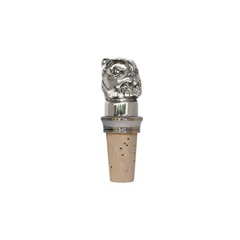 Combo Boxer Statuette Bottle Stopper - 8.5 cm Height - Handcrafted in Italy - Pewter/Britannia Metal & Cork