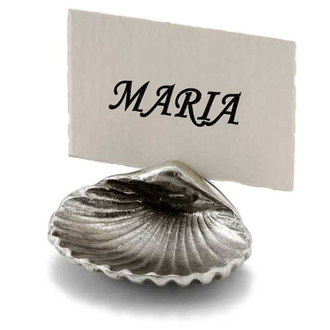 Concha Seating Card Holder (Upturned) - 4.5 cm - Handcrafted in Italy - Pewter