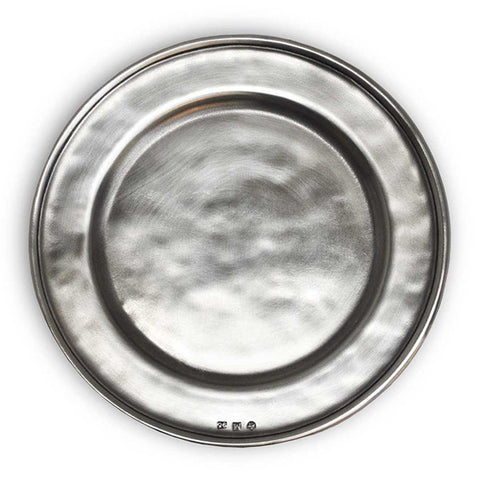 Convivio Bread Plate - 17 cm Diameter -  Handcrafted in Italy - Pewter
