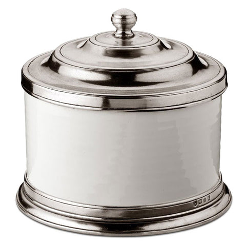Convivio Cookie Jar - 2.3L - Handcrafted in Italy - Pewter & Ceramic