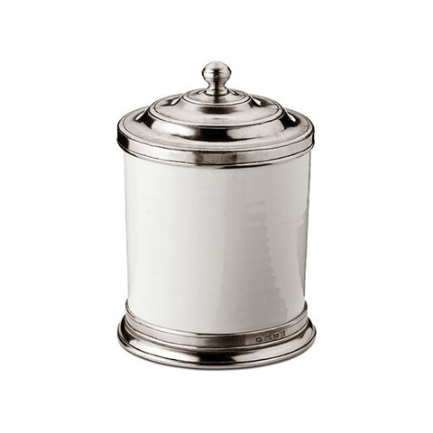 Convivio Storage Canister - 1.4 L - Handcrafted in Italy - Pewter & Ceramic