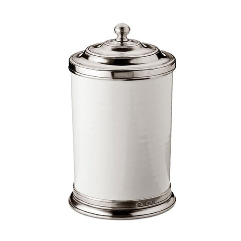Convivio Storage Canister - 1.55 L - Handcrafted in Italy - Pewter & Ceramic