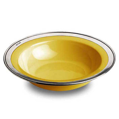 Convivio Serving Bowl - Gold - 39.5 cm Diameter - Handcrafted in Italy - Pewter & Ceramic
