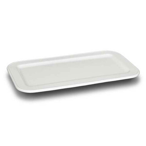 Convivio White Ceramic Rectangular Tray - 35 cm x 19 cm - Handcrafted in Italy - Ceramic