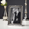 Carretti Rectangular Photo Frame - 13.5 cm x 18.5 cm - Handcrafted in Italy - Pewter
