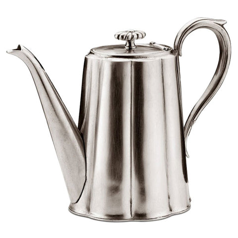 Britannia Coffee Pot - 1.3 L - Handcrafted in Italy - Pewter