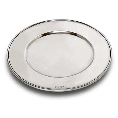 Convivio Charger - 34 cm Diameter - Handcrafted in Italy - Pewter