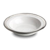 Convivio Serving Bowl - 30 cm Diameter - Handcrafted in Italy - Pewter & Ceramic