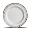 Convivio Starter/Dessert Plate (Set of 4) - 22 cm Diameter -  Handcrafted in Italy - Pewter & Ceramic