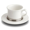 Convivio Tea Cup - 30 cl -  (Set of 2) - Handcrafted in Italy - Pewter & Ceramic