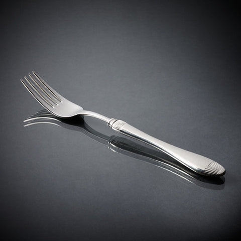 Daniela Dinner Fork Set (Set of 6) - 21.5 cm Length - Handcrafted in Italy - Pewter & Stainless Steel