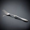 Daniela Serving Fork - 26 cm Length - Handcrafted in Italy - Pewter & Stainless Steel