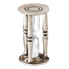 Diogene Hourglass - 8.5 cm Height - Handcrafted in Italy - Pewter & Glass