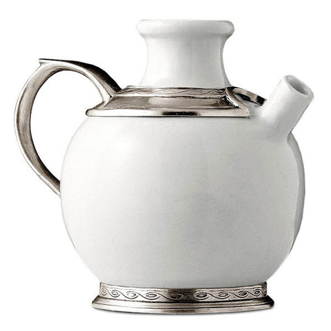 Empoli Pitcher - 1 L - Handcrafted in Italy - Pewter & Ceramic