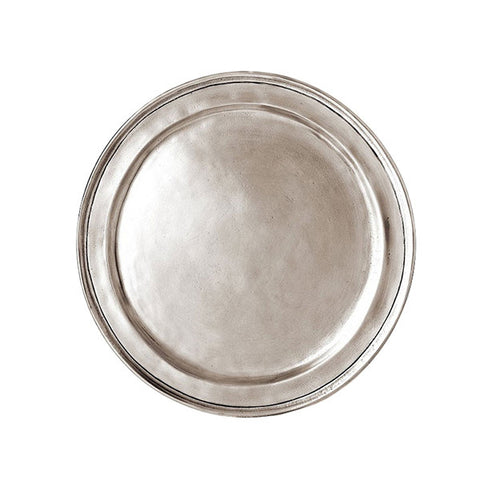 Eridio Narrow Rim Plate (Set of 2) - 11 cm Diameter - Handcrafted in Italy - Pewter