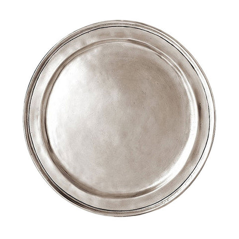Eridio Narrow Rim Bread Plate - 15 cm Diameter - Handcrafted in Italy - Pewter