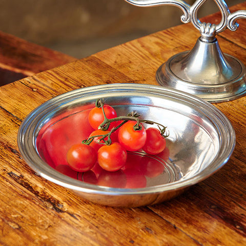 Etruria Round Bowl - 21 cm Diameter - Handcrafted in Italy - Pewter