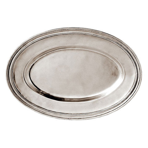 Etruria Oval Tray - 33 cm x 22.5 cm - Handcrafted in Italy - Pewter