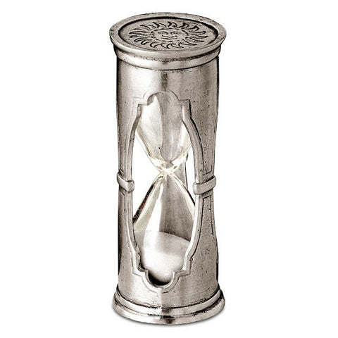 Euclide Hourglass - 9.5 cm Height - Handcrafted in Italy - Pewter