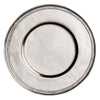 Etruria Rimmed Charger - 32 cm Diameter - Handcrafted in Italy - Pewter