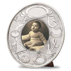 Evita Baby Photoframe - 18 cm Diameter - Handcrafted in Italy - Pewter