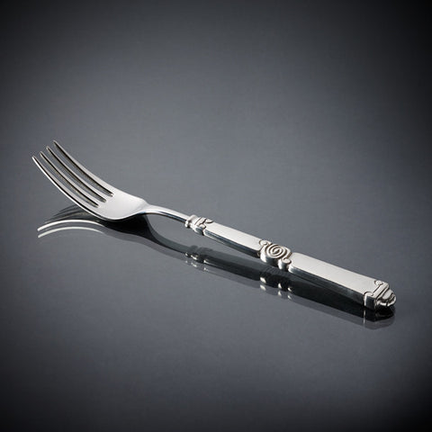 Fjord Serving Fork - 25 cm Length - Handcrafted in Italy - Pewter & Stainless Steel