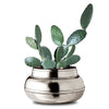 Flos Flower Pot - 22 cm Diameter - Handcrafted in Italy - Pewter