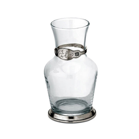 Francia Water Carafe - 25 cl - Handcrafted in Italy - Pewter & Glass
