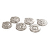 Frutta Chocolate Moulds (Set of 6) - 9.5 cm Diameter - Handcrafted in Italy - Pewter