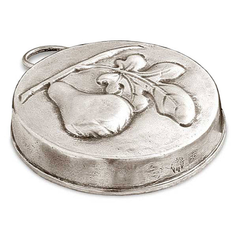 Frutta Fig Chocolate Mould - 9.5 cm Diameter - Handcrafted in Italy - Pewter
