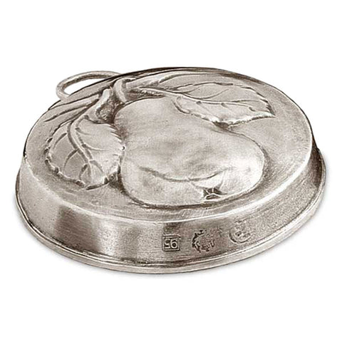 Frutta Pear Chocolate Mould - 9.5 cm Diameter - Handcrafted in Italy - Pewter