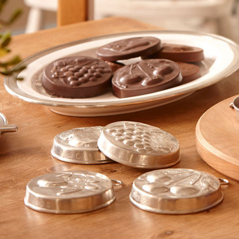 Frutta Chestnut Chocolate Mould - 9.5 cm Diameter - Handcrafted in Italy - Pewter