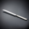Gabriella Bread Knife - 30.5 cm Length - Handcrafted in Italy - Pewter & Stainless Steel