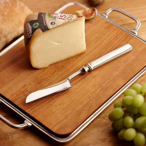 Gabriella Soft Cheese Knife - 25 cm Length - Handcrafted in Italy - Pewter & Stainless Steel