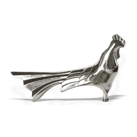 Art Nouveau-Style Gallo Cockerel Knife Rest - 8.5 cm Length - Handcrafted in Italy - Pewter