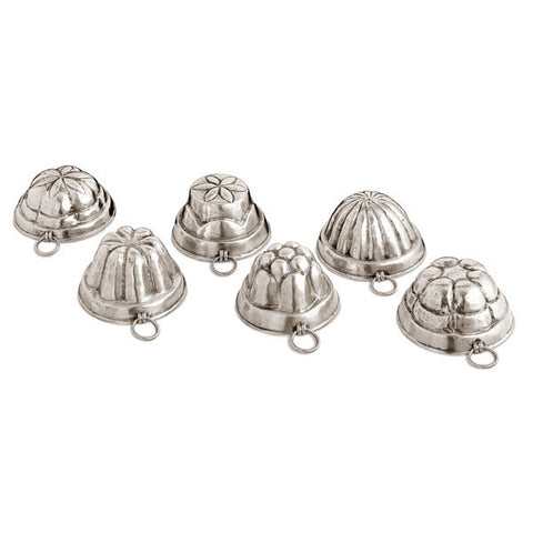 Gianduia Chocolate Moulds (Set of 6) - 9.5 cm - Handcrafted in Italy - Pewter