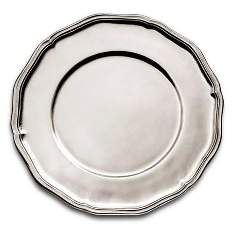 Giorgio Georgian-Style Charger - 32 cm Diameter - Handcrafted in Italy - Pewter