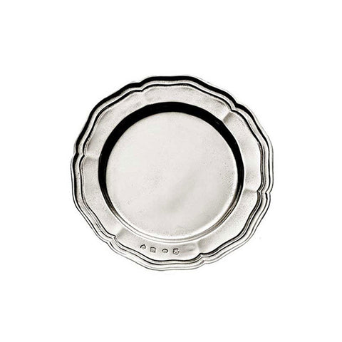 Giorgio Georgian-Style Plate (Set of 2) - 14 cm Diameter - Handcrafted in Italy - Pewter