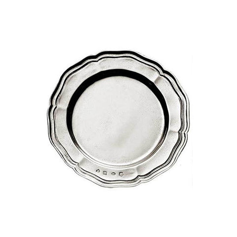 Giorgio Georgian-Style Edged Plate (Set of 2) - 12 cm Diameter - Handcrafted in Italy - Pewter
