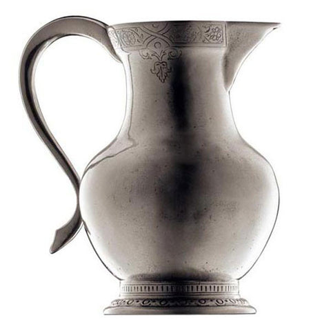 Giotto Flower Jug - 1.6 L - Handcrafted in Italy - Pewter