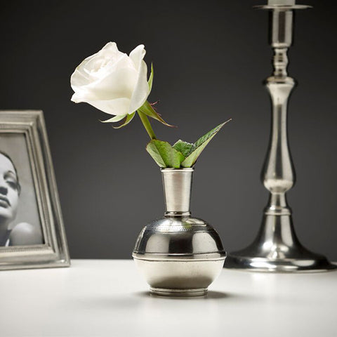 Germoglio Bud Vase - 12 cm Height - Handcrafted in Italy - Pewter