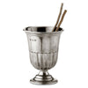 Impero Toothbrush Cup - 12 cm Height - Handcrafted in Italy - Pewter