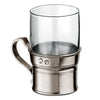 Irlanda Glass Coffee Mug - 22.5 cl - Handcrafted in Italy - Pewter & Glass
