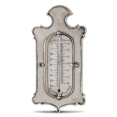 Kelvin 3 Scale Thermometer - 27 cm Height - Handcrafted in Italy - Pewter