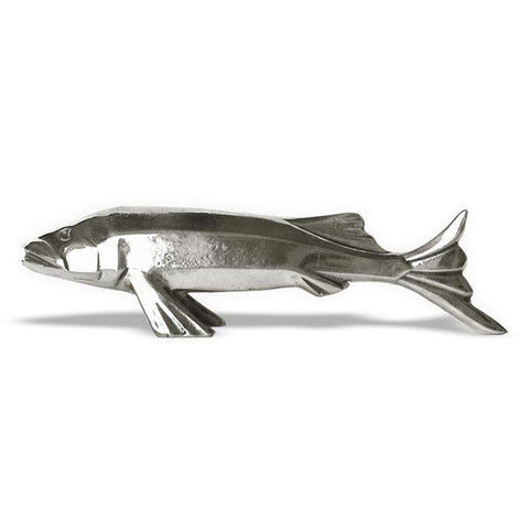 Art Nouveau-Style Pesce Fish Knife Rest - 9.5 cm Length - Handcrafted in Italy - Pewter